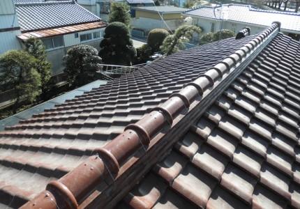 屋根瓦修繕後