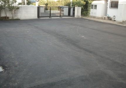 駐車場舗装後