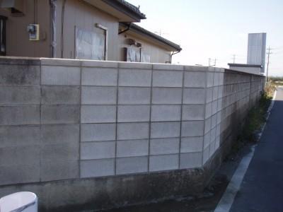 ブロック塀修復後